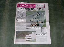MOTORING NEWS newspaper 21/7/77 feat. British GP report, MG Midget 1500, F3