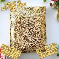 Upaknship 10x13 Leopard Designer Poly Mailers Shipping Envelopes