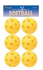 Champion Sports Plástico amarillo 30.5cm Softballs bate entrenamiento Práctica