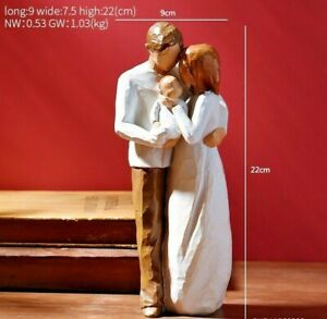 Family Love Miniature Statue Sculpture Figurine Tabletop Home Office Decoration