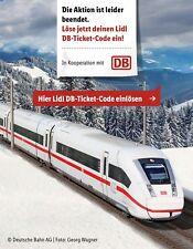 Deutsche Bahn LIDL DB Ticket Freifahrt Gutschein Flex Zug Hin- Rückfahrt