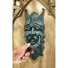 Qh9100 - Castle Gladstone Gothic Greenman Authentic Foundry Iron Door Knockers