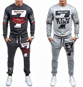 Men Tracksuit Jogging Sweatsuit Sweatpants Sweatshirt 2-piece set Sport Jogger