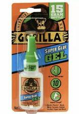 Gorilla Super Glue Gel, Incredibly Strong, 15 Gram Bottle, No Run Formula