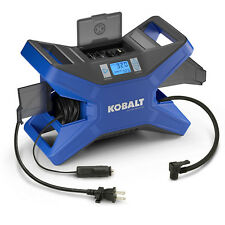 Kobalt Portable Air Compressor 120 PSI 12 Volt & 120 Volt Electric Tire Inflator