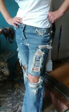 """Sass & Bide """"ALL IN ONE"""" Custom Made Limited Edition Distressed Jeans sz 26 RARE"""