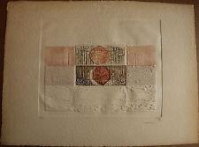 Gravure au carborundum de Marie-Thérèse FAYET soleils marins **