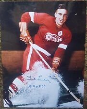 Ted Lindsay Autographed 11x14 Detroit Red Wings   COA