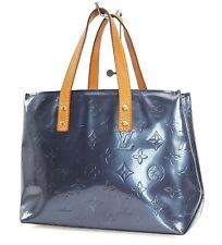 Auth LOUIS VUITTON Reade PM Indigo Vernis Leather Tote Hand Bag Purse #37711