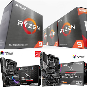 AMD Ryzen 5000 Series Desktop Processors 5600X 5800X 5900X 5950X CPU + MB