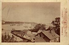 Kiel Panorama view Photographer; Braune, Cabinet  ALBUMEN ca.1880 Antique photo