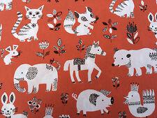 Red Giapponese Tessuto di Cotone Fat Quarter Quilting peso Elefante gatto cavallo anatra