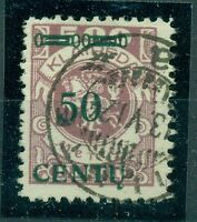 Memel, 50 centu auf Klaipeda-Marke Nr. 173 gestempelt