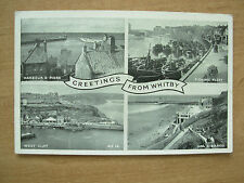 VINTAGE POSTCARD COLLAGE OF VIEWS WHITBY YORKSHIRE