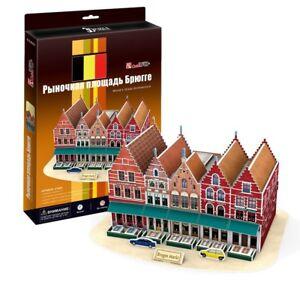 3D Puzzle CubicFun - Bruges Market Square (Belgium) - 45 pieces