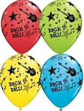 Party Supplies Birthday Rock n Roll 50's Music Stars Balloons pk 10