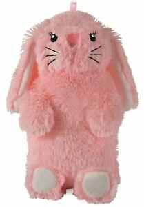 Bunny Rabbit Hot water bottle Soft plush Pink cover 750 ml bottle UK SELLER