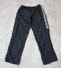 VINTAGE DKNY Windbreaker Pants Adult Large Black Red Spell Out Tear Away Men 90s