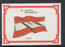 Monty Gum 1980 Flags Cards - Card No 94 - Austria (T624)