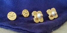Tory Burch Babylon Stud Earring Gold Plated Pouch