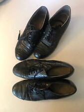2 Pairs Authentic Vintage 1920s 1930s Leather Women's Spectator Shoes Art Deco