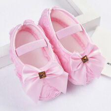 Newborn Infant Baby Girl Soft Crib Sole Shoes Princess Anti-slip Sneakers Pink
