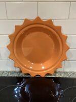 """Orange Chantal 10"""" Pie Pan Ceramic Unusual Design"""