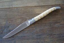 Laguiole Vent d`Aubrac, Taschenmesser 12 cm, Mammutbackenzahn erdfarben mit Etui