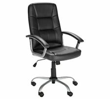 Black Leather Chair for Home or Office Adjustable Swivel Manager Gaming