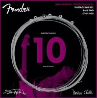 Fender Jimi Hendrix Voodoo Child BALL-END NICKEL Electric Guitar Strings, 10-38
