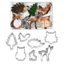 Woodland Forest Animals 7 Piece Cookie Biscuit Cutter Set Baking Accessories