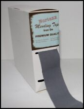 IRON ON FABRIC REPAIR MENDING TAPE 35MM FOR CLOTHING – GREY – SOLD BY THE METRE