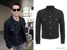 J.Lindeberg Men's Starwood Donegal Denim Jacket 430$ Black SIZE XL