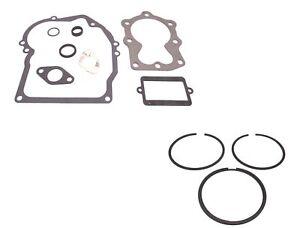 Genuine Tecumseh 37613A Gasket Set & 40006 STD Piston Ring Set Kit OEM