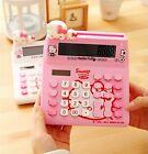 Cute Pink Cat Hello Kitty Desk Basic Desktop Electronic Calculator Pink