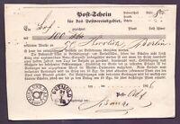Schöner Post-Schein für das Postvereinsgebiet aus Detmold Thurn&Taxis 1866 (492)