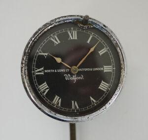 Vintage North & Sons 'Watford' Car Clock 1920s - 1930s - Spares or Repair