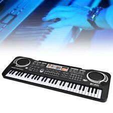 61 Keys Digital Music Electronic Keyboard Electric Piano Organ with Microphone#D