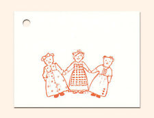 50 Hang Tags *Teddy Friends* Crafts Sewing Price Gift- Strings Included