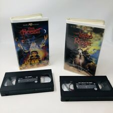 J.R.R. Tolkien's THE HOBBIT VHS 1977  plus THE LORD OF THE RINGS VHS Animated CC