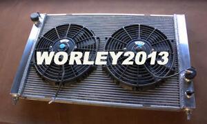 Aluminum radiator + fan for LAND ROVER DISCOVERY II 2 V8 4.0 4.6 1999-2004