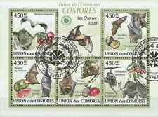 Timbres Animaux Chauve Souris Comores 1646/50 o de 2009 lot 19453 - cote : 16 €