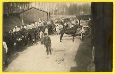 cpa Carte Photo 1914 11e Bataillon à Cheval TRAIN VOIE Embarquement des CHEVAUX