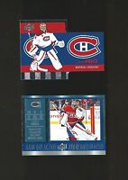 CAREY PRICE TIM HORTONS DIE-CUT TH-1 AND GAME DAY ACTION # GDA-8