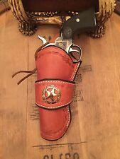 Western Leather Gun Holster  Single Action Revolver CROSS DRAW Colt LEFT HANDED