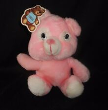 "9"" VINTAGE CIRCUS CIRCUS LAS VEGAS RENO PINK TEDDY BEAR STUFFED ANIMAL PLUSH TOY"