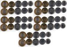 India - 5 pcs x set 5 coins 50 Paise 1 2 5 10 Rupees 2011 aUNC Lemberg-Zp
