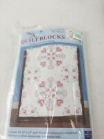 "Demsey Needle Art Quilt Blocks Hearts 6"" Each Counted Cross Stitch Kit  #732-16"