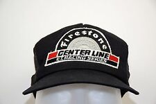 Firestone Centerline Racing E T Racing Series Black Foam Mesh Trucker Hat 1980s