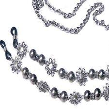Reading eye glasses, spectacle chain stainless steel lanyard holder Silver balls